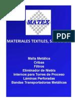 Catalogo Matex - Mallas de Acero