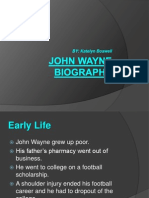 john wayne biography powerpoint