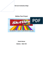skittles project - my page version