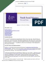 December 2014 CCUSA Parish Social Ministry Newsletter