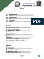 Indice de una tesis