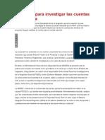 Dictamen Para Investigar Las Cuentas en Suiza