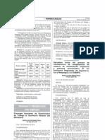 Resolución Ministerial N° 257-2014-TR - Aprueban el inicio del proceso de transferencia de competencias en Cajamarca Ica y Moquegua