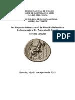 1er Simposio Internacional de Filosofia Helenistica. Rosario 2013. Circular 3
