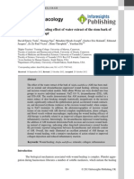 A Dermal Wound Healing Effect of Water Extract of the Stem Bark of a Multiflora