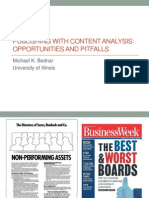 Publishing with Content Analysis