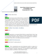 Radio Híbrido Programa 4 Temporada 2014-2015