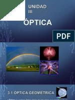 Unidad III - Óptica