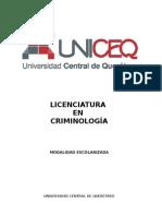 Plan de Estudio Criminología UNICEQ