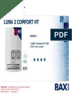 Centrala Termica in Condensatie Baxi Luna 3 Comfort Ht 1280 Pliant Prezentare