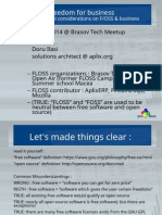 Brasov Tech Meetup- 1410 - Freedom in Business