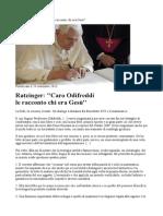 Ratzinger Risponde Ad Oddifreddi