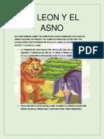EL LEON Y EL ASNO