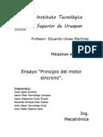 Ensayo Principio Del Motor Sincrono