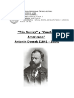 """""""Trío Dumky"""" y """"Cuarteto Americano"""" Antonin Dvorak (1841 - 1904)"""