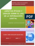 Ensayo Aspectos Legales y Eticos de La Informacion