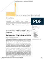Polyarchy, Pluralism and Scale