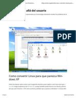 Convertir Ubuntu en WinXP