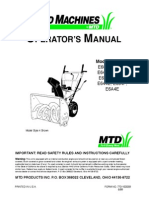 Yard Machine Snow Blower Owners Manual