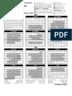 Student Teacher Calendar 07-08 Revised 4-17-07