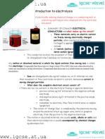 IGCSE electrochemistry notes