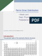 Fermi Dirac Distribution 2005