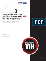 Guía para elaborar una política interna de VIH en las empresas