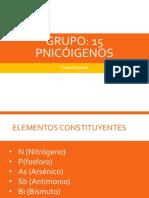 Grupo 15 Pnicogenos