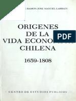 De Ramon, Larraín - Orígenes de La Economía