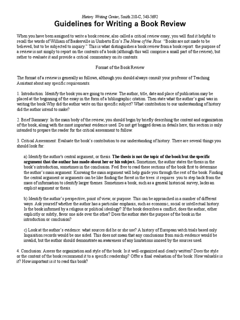 history book review essay