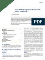 Affections Hématologiques Et Avc