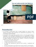 El Gasto Público en Educación de México