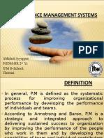 Performance Management Systems- Abhilash