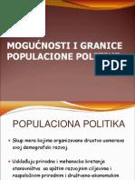 Mogućnosti i Granice Populacione Politike