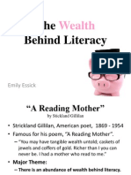 the wealth behind literacy