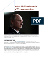 Falling Oil Prices Hit Russia Much Harder Than Western Sanctions