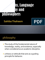 Philosopy and Branches