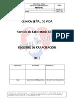 Registros de Capacitacfión