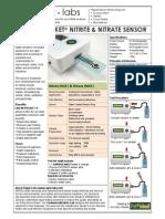 Specification Sheet Nitritenitrate Sensor
