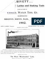 Rivett - Watchmakers' Lathes and Staking Tools 1902 Catalog