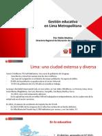 DRELM Gestion Moderna y Descentralizada en Lima