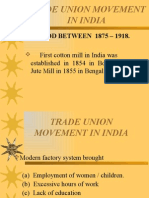 Trade Union Movement in India