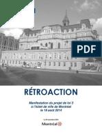 Rapport du SPVM sur les événements du 18 août à l'hôtel de ville de Montréal