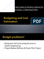 JOURNEYMAN Budgeting and Cost Estimation