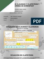 1ra Exposicion de La Ecuacion de Clausius y Clapeiron