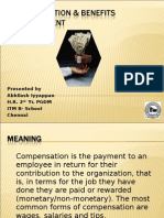 Compensation & Benefits Mgmt - Equity , pay structure.