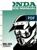 Honda Xr250r Service Manual Repair 1986-1995 Xr250