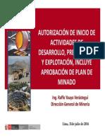 Autorizacion de Actividad Minera