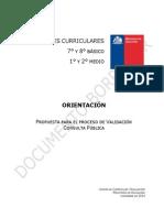 Bases Curriculares Orientacion Consulta Publica