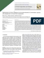Optimización Superficie de Respuesta capacidad antioxidante